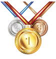 Golden Silver and Bronze Medal vector image