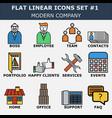 modern company icons vector image