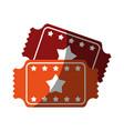 movie tickets icon image vector image