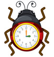 a ladybug clock template vector image
