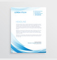 abstract blue letterhead design vector image vector image