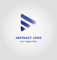 abstract business logo template with gradient and vector image vector image