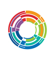 Abstract circle color stripes vector image