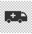 Ambulance sign Dark gray icon on vector image vector image