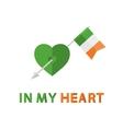 Arrow with Ireland Flag vector image vector image