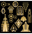 art decoart nuvo diy golden black elegant set of vector image
