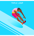 Athletics Jump 2016 Summer Games 3D vector image vector image