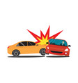 auto accident involving two cars vector image vector image
