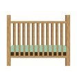 baby crib with wood railing vector image