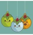 ball christmas character hanging vector image
