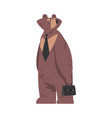 bear businessman character humanized animal