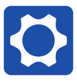 blue white information sign - cogwheel icon vector image vector image