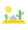cactus with sun natural aventure vector image vector image