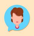 callcenter woman support online operator customer vector image vector image