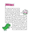 Cartoon dino maze game