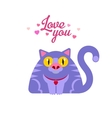 Cat with love you typography vector image vector image