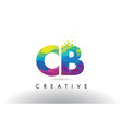cb c b colorful letter origami triangles design vector image