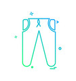 cloths icon design vector image vector image