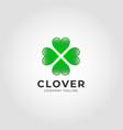 clover heart logo template vector image