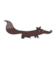 comic cartoon little fox vector image vector image
