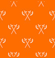 crossed battle axes pattern seamless vector image vector image