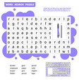 Crossword game for kids word search puzzle with
