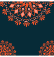 Cultural floral design vector image vector image