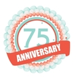 Cute Template 75 Years Anniversary with Balloons vector image vector image