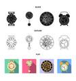 design clock and time logo set clock vector image