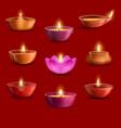 diwali diya lamps deepavali indian light festival vector image vector image