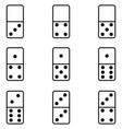 domino icon set vector image vector image