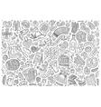 doodle cartoon set oktoberfest objects vector image vector image