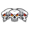 evil skulls vector image vector image