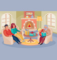 family mom and dad and grandfather vector image vector image