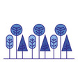 forest trees nature geometric shape vector image