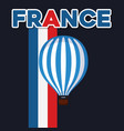 france culture card with balloon helium vector image vector image
