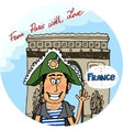 From Paris With Love poster design vector image vector image