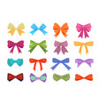 gift bows colorful flat set vector image