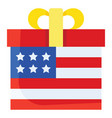 gift box united state independence day related vector image vector image