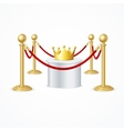 Gold Crown and Red Rope Barrier vector image vector image