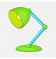 green table lamp icon cartoon style vector image vector image