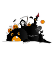 halloween drawing vector image vector image