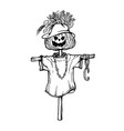 hand drawing scarecrow vector image vector image