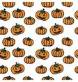 hand-drawn Halloween pumpkins vector image vector image