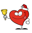 Heart Santa with Bell vector image vector image