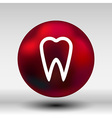 icon toothache sign line clinic symbol whitening vector image vector image