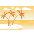 island background vector image vector image
