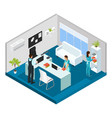 isometric professional cleaning service concept vector image