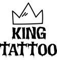 king tattoo background image vector image vector image