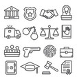 law line icons set on white background vector image vector image